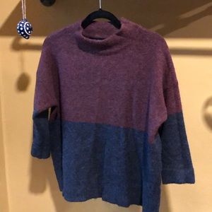 French Connection RSVP Colour Block Knit Jumper L
